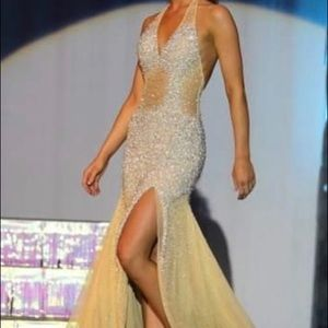 Prima Donna nude pageant evening gown